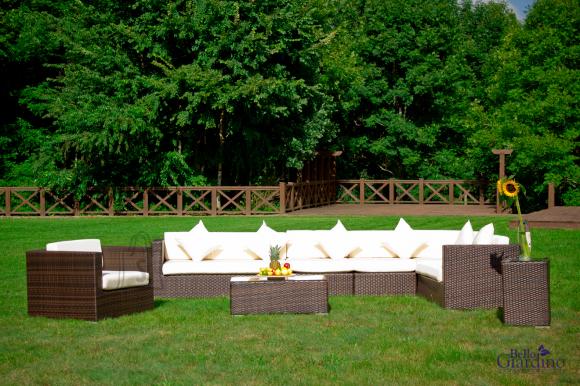Bello Giardino aiamööbel Magnifico. Mooduldiivan + 2 lauda + tugitool