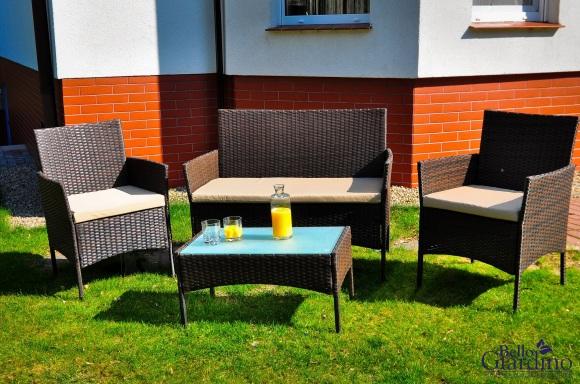 Bello Giardino aiamööbel Comodo. Laud + diivan + 2 tooli