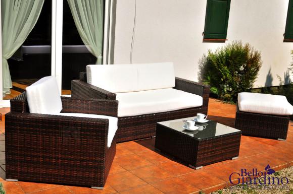 Bello Giardino aiamööbel Esotico. Aiadiivan + tugitool + tumba + laud