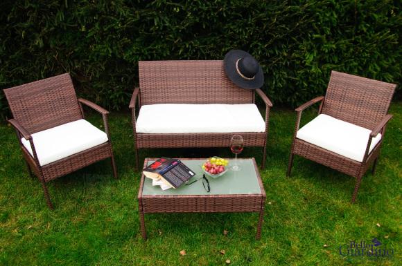 Bello Giardino aiamööbel Solo laud + diivan + 2 tooli