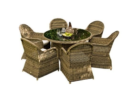 Bello Giardino aiamööbel Forte laud + 6 tooli