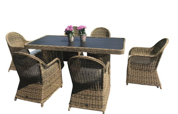 Bello Giardino aiamööbel Vero laud + 6 tooli