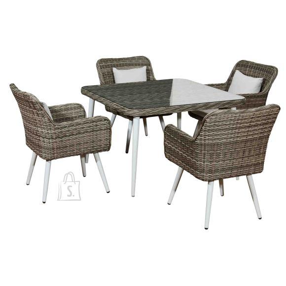 Bello Giardino aiamööbel Basso laud + 4 tooli