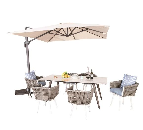 Bello Giardino aiamööbel Corda laud + 6 tooli
