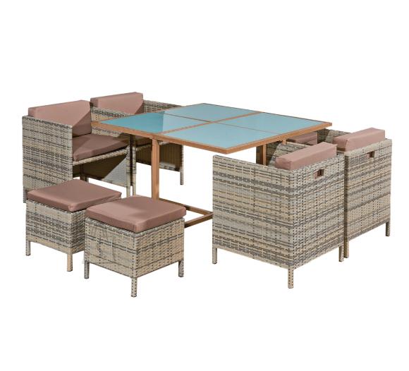 Bello Giardino aiamööbel Soffio laud + 8 tooli