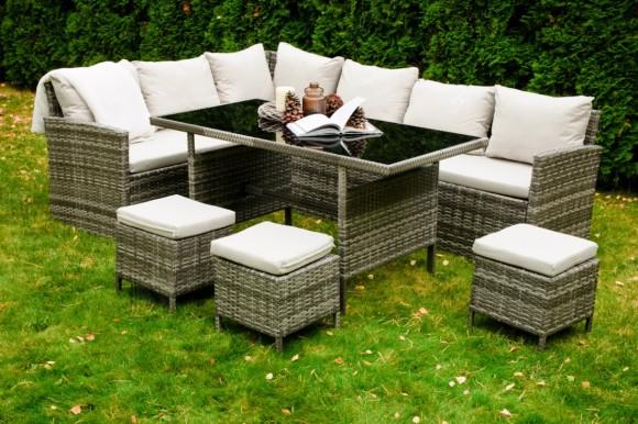 Bello Giardino aiamööbel Passione laud + diivan + 3 tooli