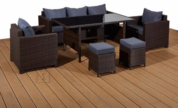 Bello Giardino aiamööbel Strano laud + diivan + 4 tooli