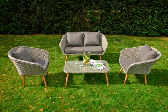 Bello Giardino aiamööbel Largo laud + diivan + 2 tooli