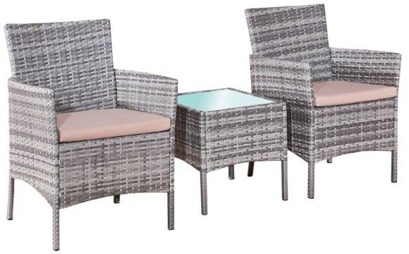 Bello Giardino aiamööbel Sano laud + 2 tooli