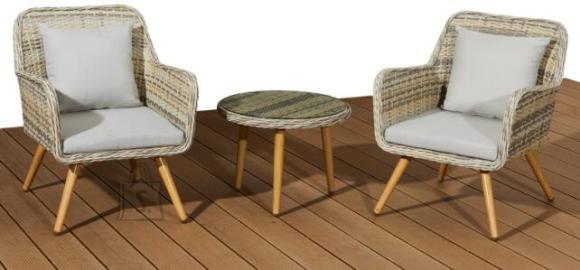 Bello Giardino aiamööbel Belicco laud + 2 tooli