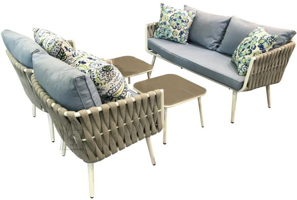 Bello Giardino aiamööbel Corda  diivan + 2 lauda + 2 tooli