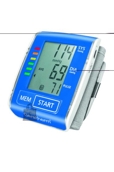 Täisautomaatne vererohuaparaat Geratherm Active Control randmelt mõõtmiseks
