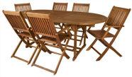 Kokkupandav aiamööblikomplekt 6 tooli ja laud