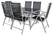 Aiamööblikomplekt laua + 6 tooliga