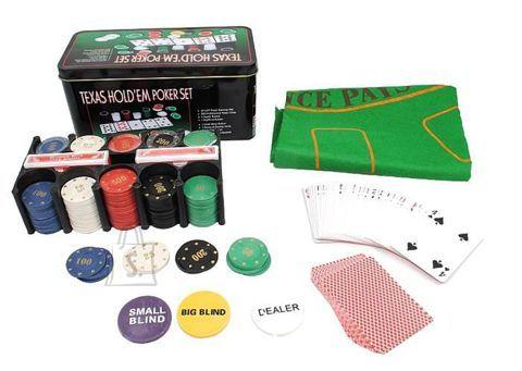Pokkerikomplekt Texas 200 žetooniga