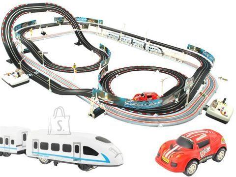 Mängusõidurada koos raudteerajaga 2in1