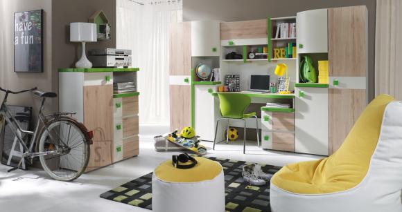 Lastetoamööbel Colorato, roheline