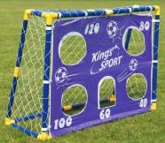 Lastele jalgpalli värav koos treeninguks mõeldud kattega
