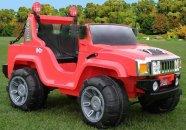 kahekohaline elektriauto Hummer punane + kaugjuhtimise pult