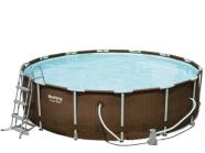 Bestway bassein rotangist raamiga koos filterpumbaga Ø427 cm