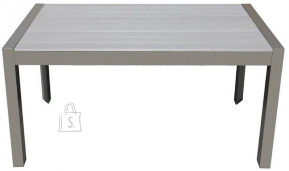 Alumiiniumraamiga laud aeda või terrassile