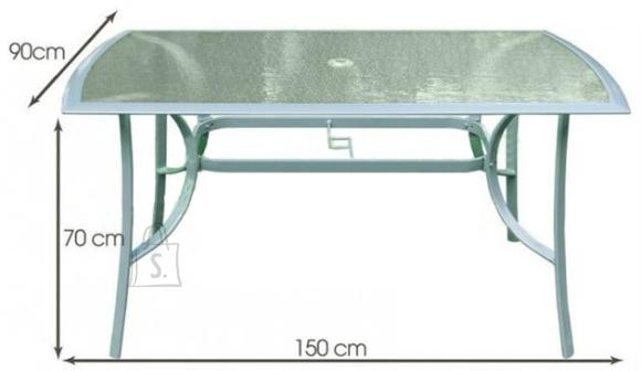 Alumiiniumraamiga aialaud 150x90cm