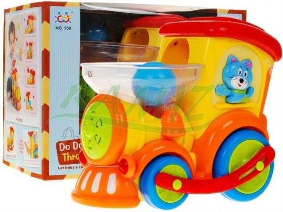 Arendav mänguasi värviline vedur