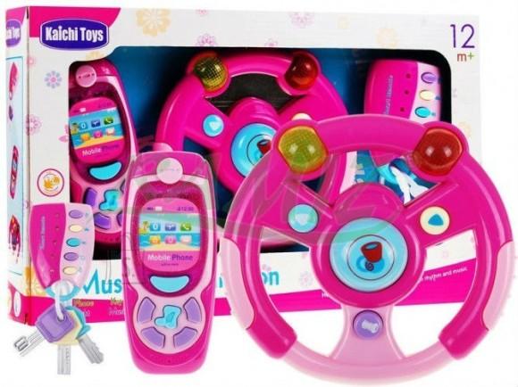 Mängukomplekt rooli, võtmete ja telefoniga