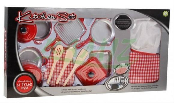 Mängu kööginõude komplekt + kokariided