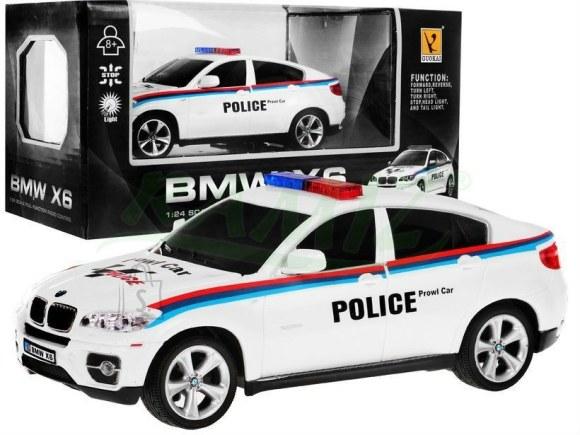 Raadioteel juhitav politseiauto BMW X6 1:24