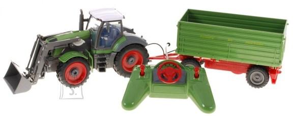 Raadioteel juhitav traktor rohelise järelhaagisega 1:28