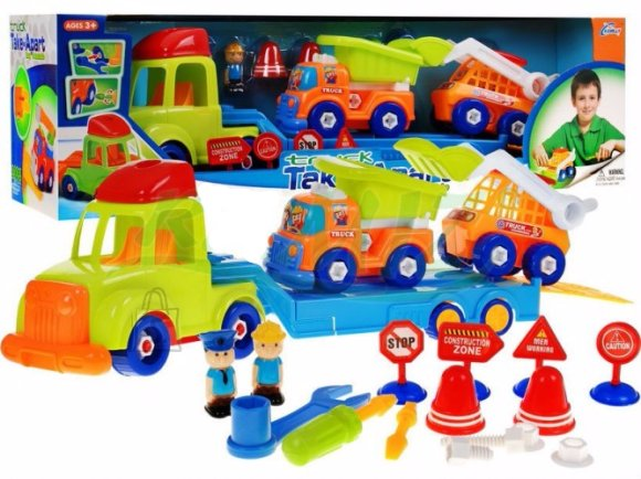 Mängukomplekt veoautod