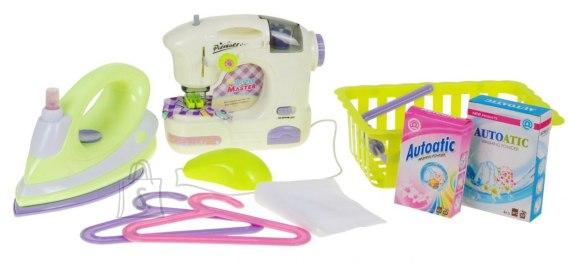 Mängu õmblusmasin koos triikraua ja tarvikutega