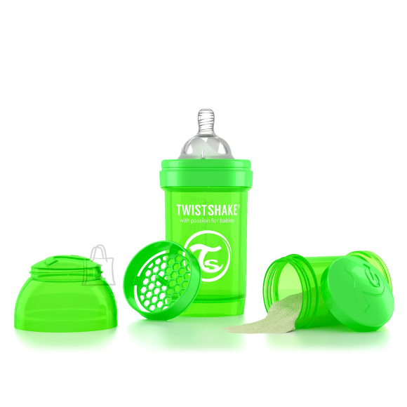 Twistshake Twistshake Anti-Colic lutipudel 180ml, Roheline
