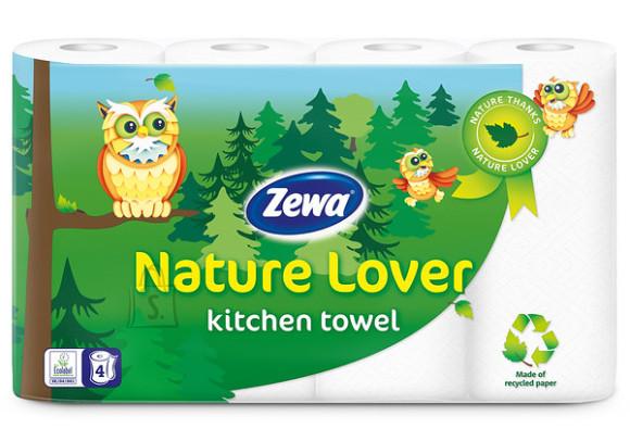 Zewa Zewa majapidamispaber Nature Lover 4 rulli, 2-kihiline