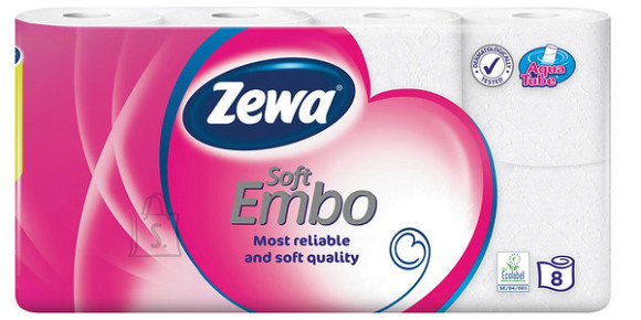 Zewa tualettpaber Soft Embo 8 rulli, 3-kihiline