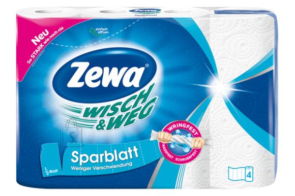 Zewa majapidamispaber Wish & Weg Sparblatt- 4 rulli, 2-kihti, valge