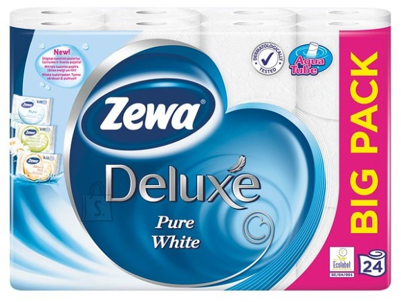 Zewa tualettpaber Deluxe Pure White 24 rulli, 3-kihti
