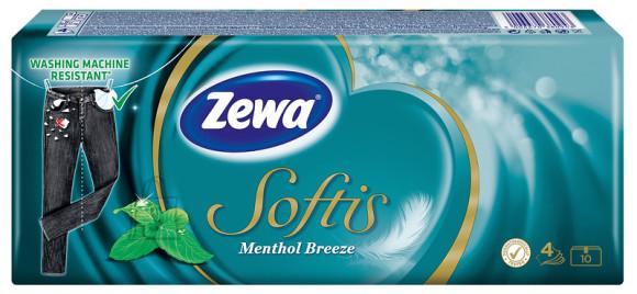Zewa taskurätikud Softis Mentol 10x9, 4-kihiline