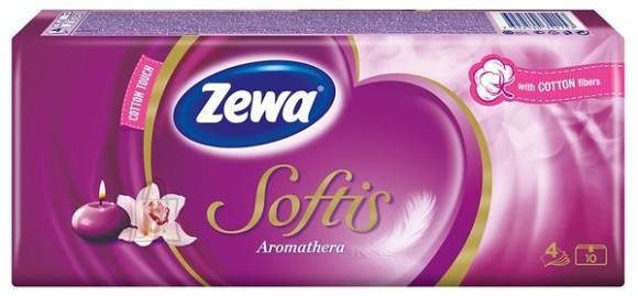 Zewa taskurätikud Softis Aromathera 10*9, 4-kihiline
