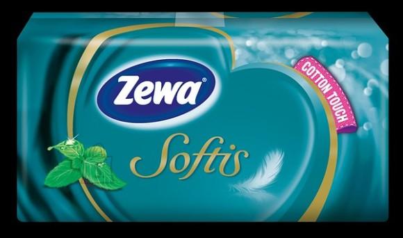 Zewa taskurätikud Softis mentooliga 10*9 ükiskult, 4-kihiline