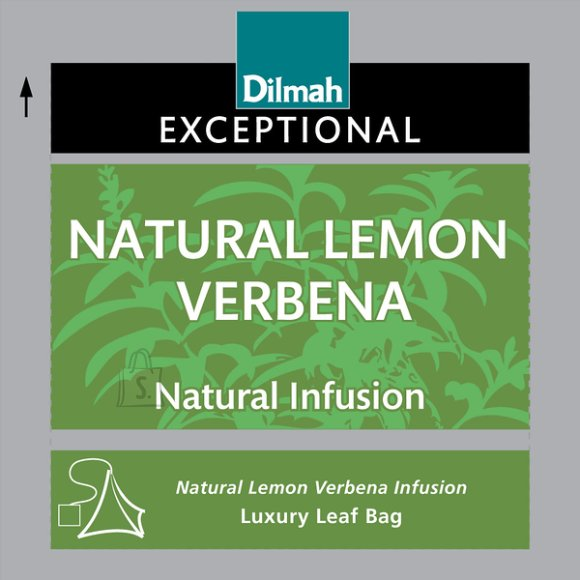 Dilmah 30/2 g/4 Exc. Natural Lemon Verbena teekotid
