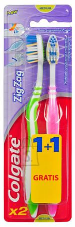 Colgate Colgate hambahari Zig-Zag medium 2-pakk