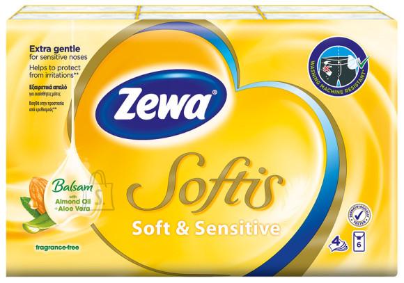 Zewa taskurätikud Softis Sensitive 6*9, 4-kihiline