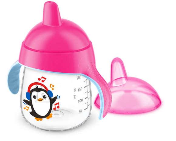 Philips Avent tass tilaga pingviin 260 ml- roosa SCF753/07
