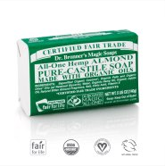 Dr. Bronner´s Almond Pure Castile Oranic Bar Soap 140 gr - mandlilõhnaline orgaaniline tükiseep