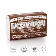 Dr. Bronner´s eucalyptus Pure Castile Organic Bar Soap 140 gr - eukalüptiga orgaaniline tükiseep