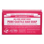 Dr. Bronner´s Rose Pure Castile Organic Bar Soap 140 gr - roosiga orgaaniline tükiseep