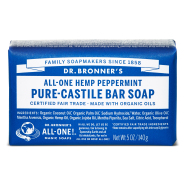 Dr. Bronner´s Peppermint Pure Castile Organic Bar Soap 140 gr - piparmündiga orgaaniline tükiseep