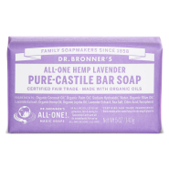 Dr. Bronner´s Lavender Pure Castile Organic Bar Soap 140 gr - orgaaniline lavendliõliga tükiseep